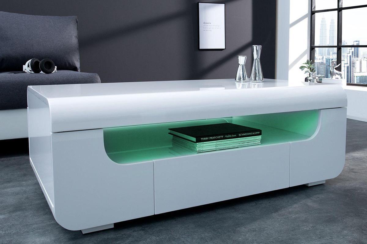 Konferenčný stolík Luminous 120 cm / biela