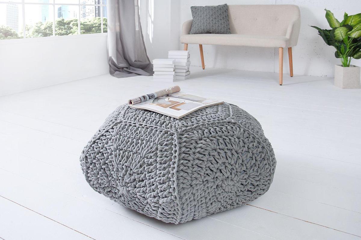 Dizajnová taburetka Lilly II / šedá