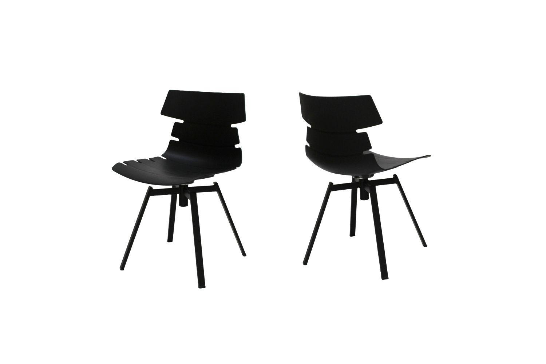Dizajnová stolička Dollie II  / čierna