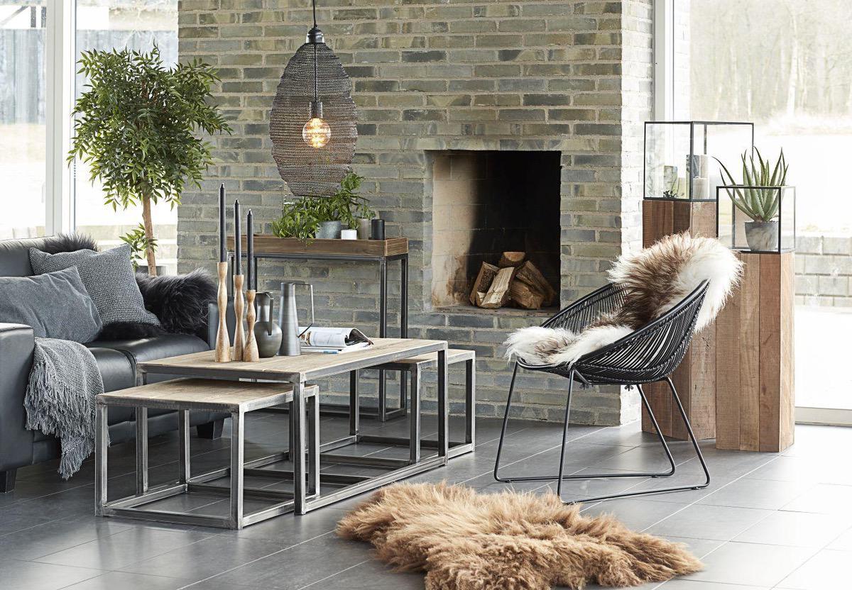 Dizajnová stolička Lenny / čierna