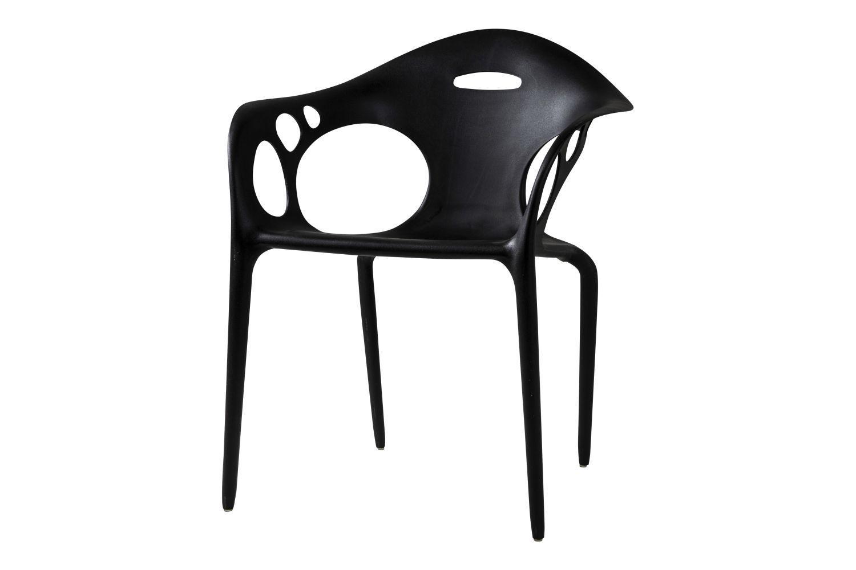 Dizajnová jedálenská stolička Lena / čierna