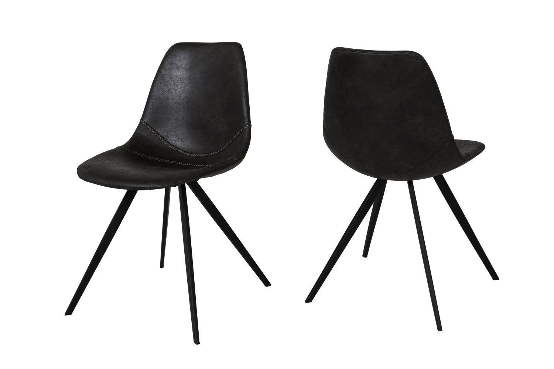Dizajnová jedálenská stolička Lucy / čierna