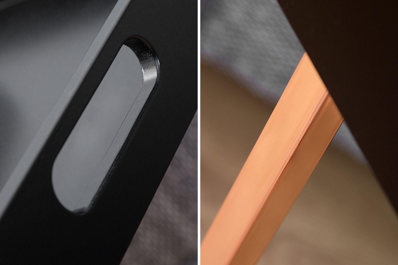 Odkladací stolík Cesar / čierna - medená