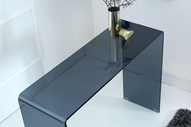 Sklenený kancelársky stôl Phantom 100 cm / antracit