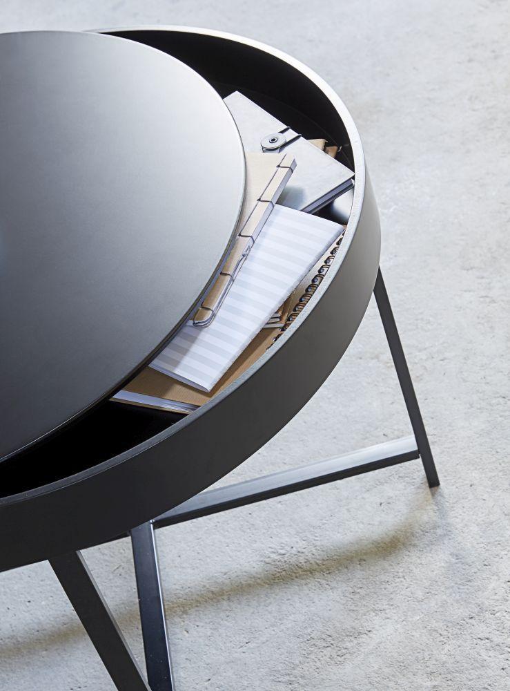 Konferenčný stolík Marley 70 cm / čierna