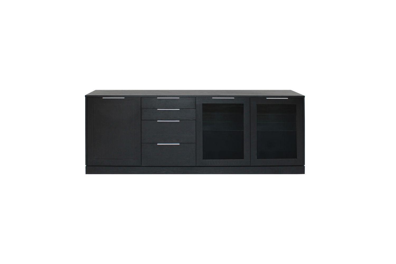 Dizajnová komoda Franco / 3 dverová - čierna