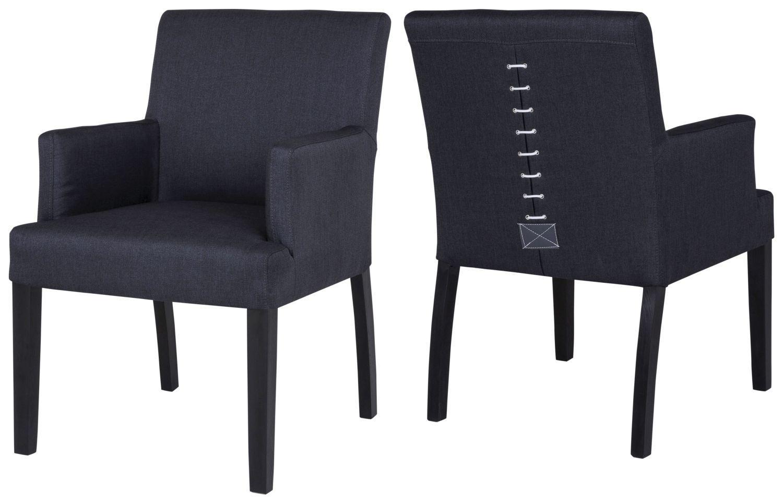 Jedálenská stolička Marta s podrúčkami / čierna
