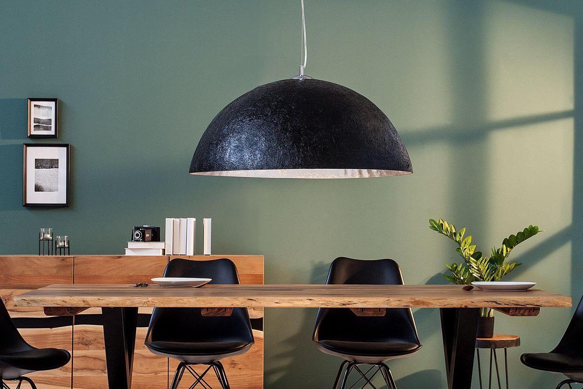 LuxD 19630 Závesné svietidlo Heat 70 cm / čierna - strieborná závesné svietidlo