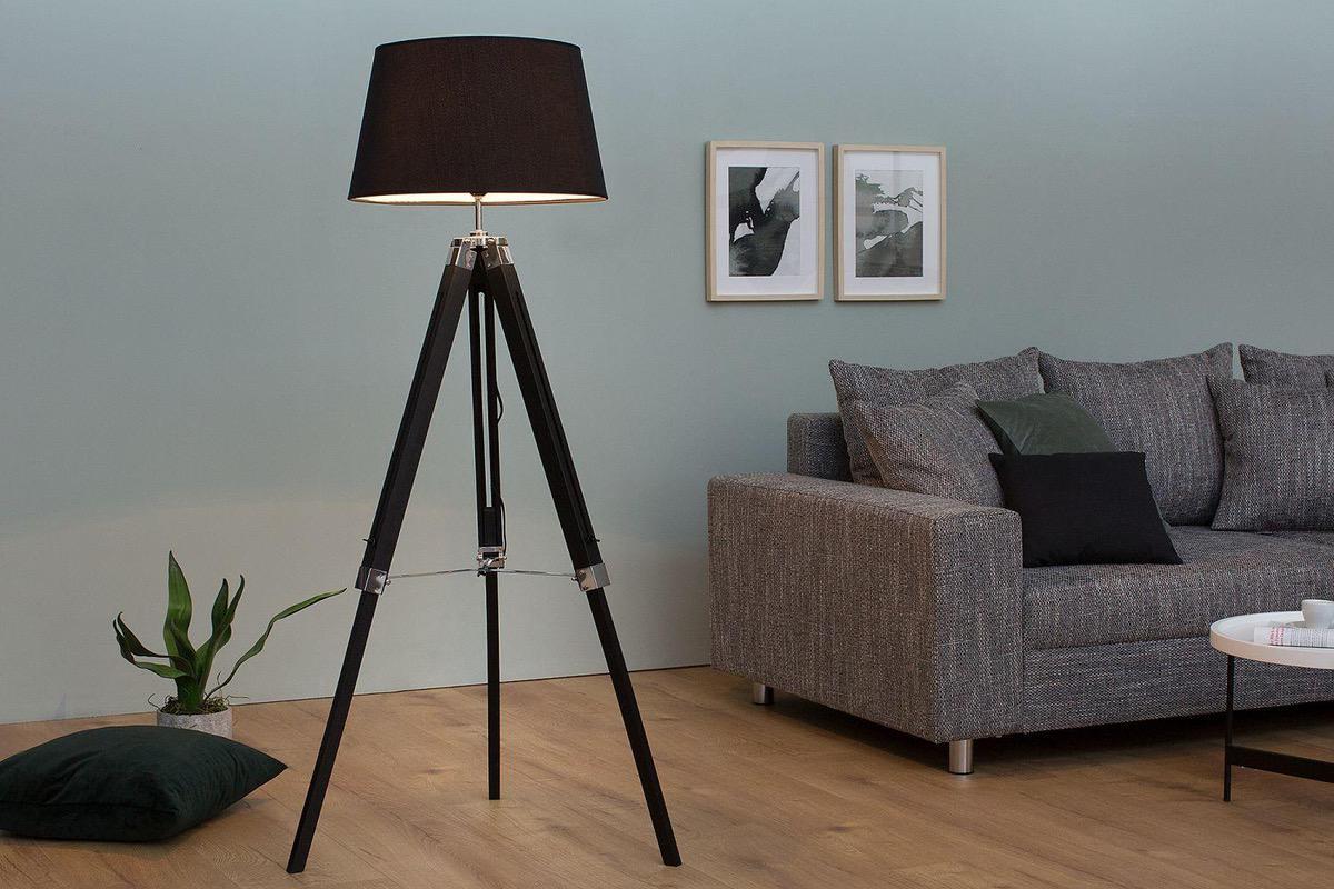 VÝPREDAJ - ZĽAVY až do 75%  Stojanová lampa Rome 99-143 cm   čierna 4d7fc29a191