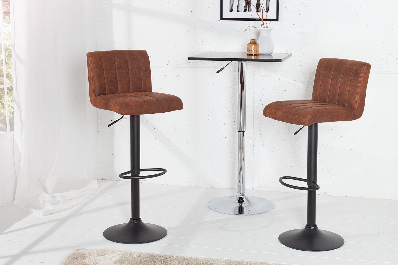af491e3bcdef Dizajnové barové stoličky  Barová stolička Pretty vintage hnedá   109 cm