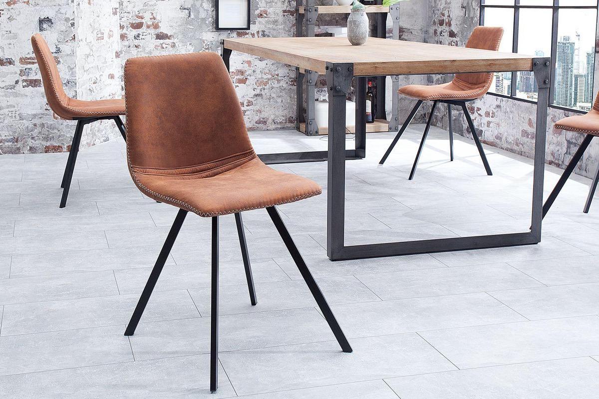 LuxD 20048 Dizajnová stolička Rotterdam Retro / hnedá