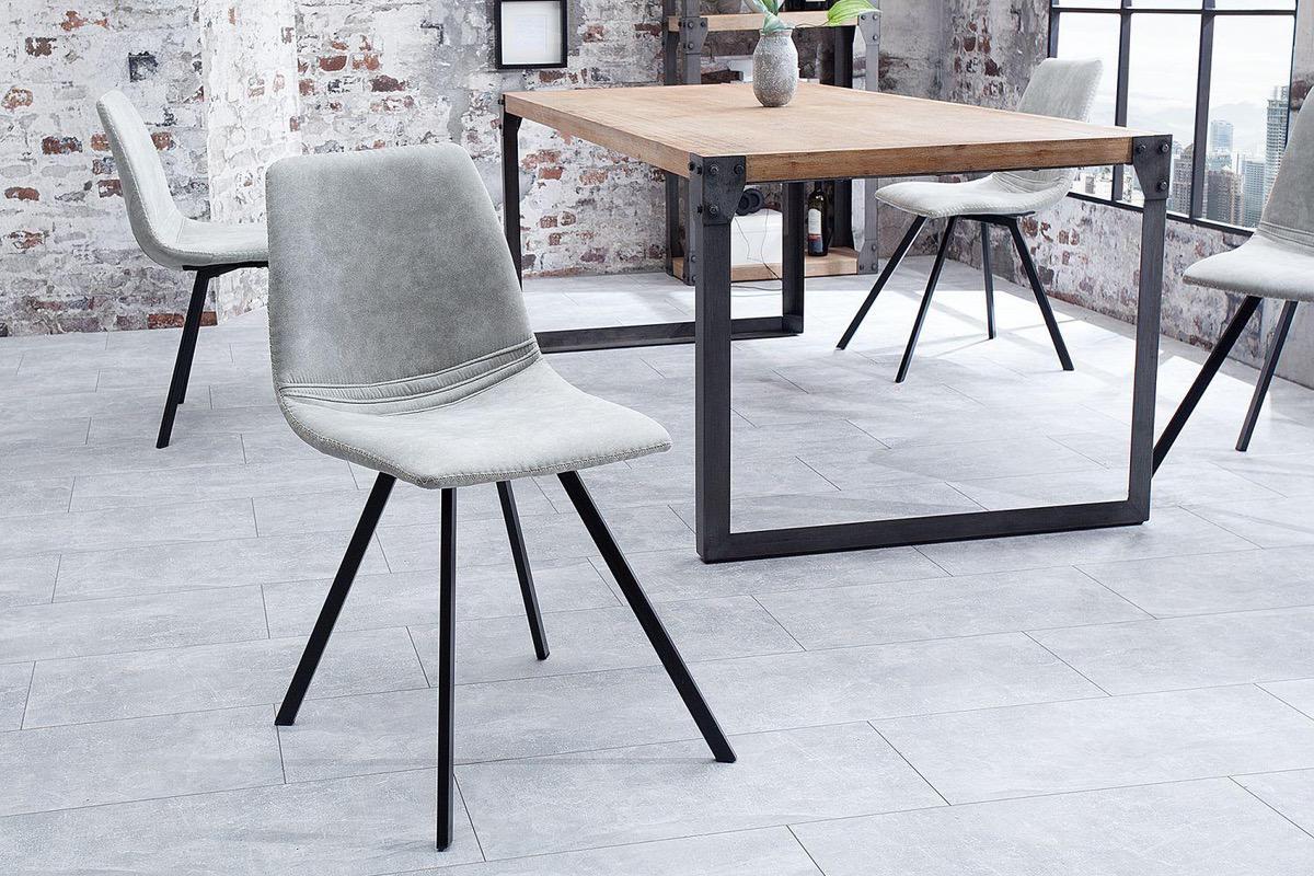 LuxD 20047 Dizajnová stolička Rotterdam Retro / svetlo sivá