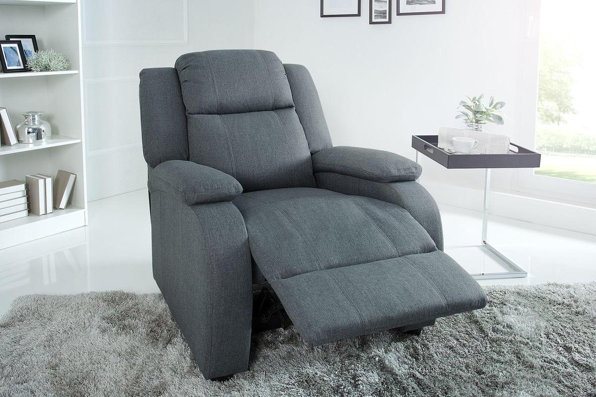 LuxD Relaxačné kreslo Movie šedé