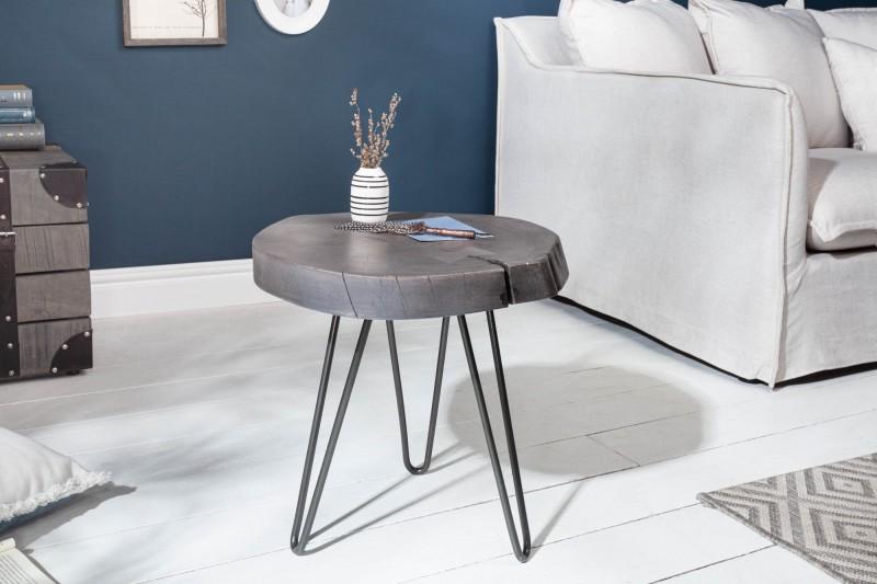 LuxD Odkladací stolík Island 43cm sivá akácia