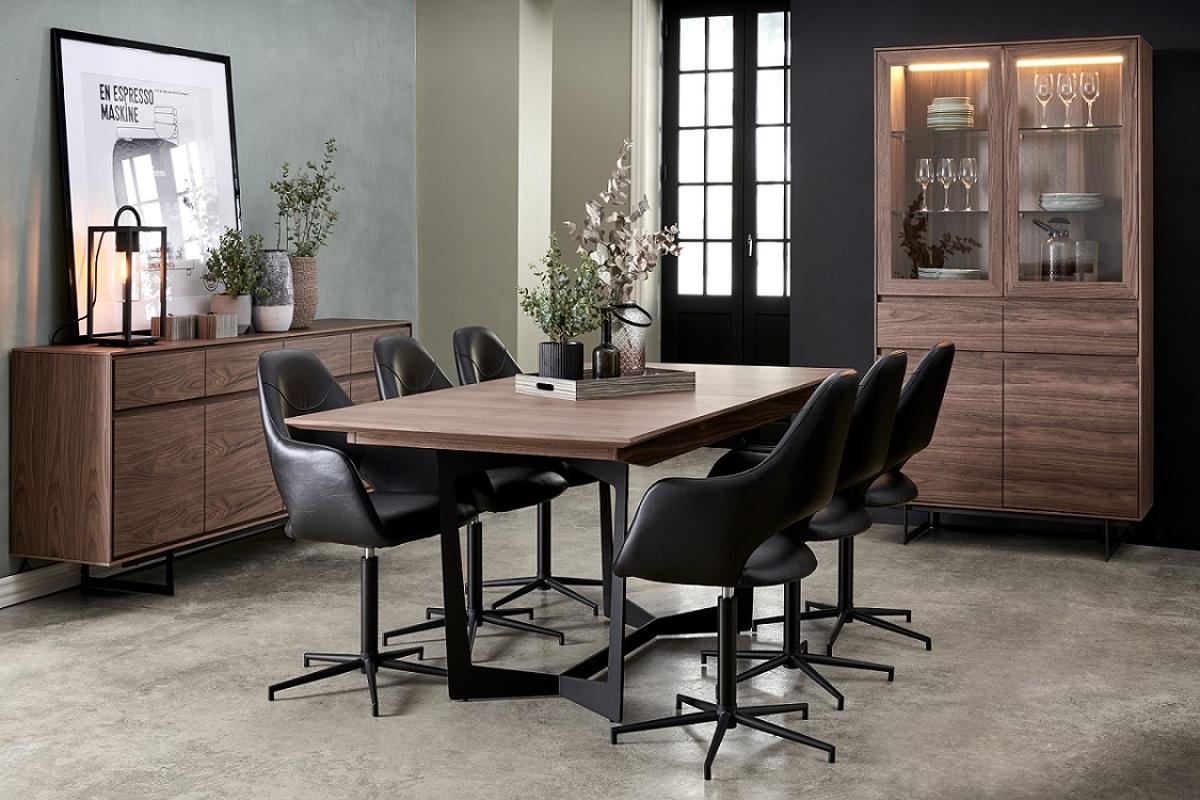 Furnistore Jedálenský rozkladací stôl Aage 200-250, vlašský orech