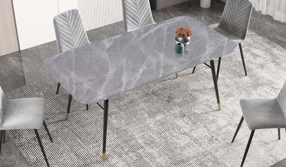 LuxD Jedálenský stôl Laney 180 cm mramor sivý