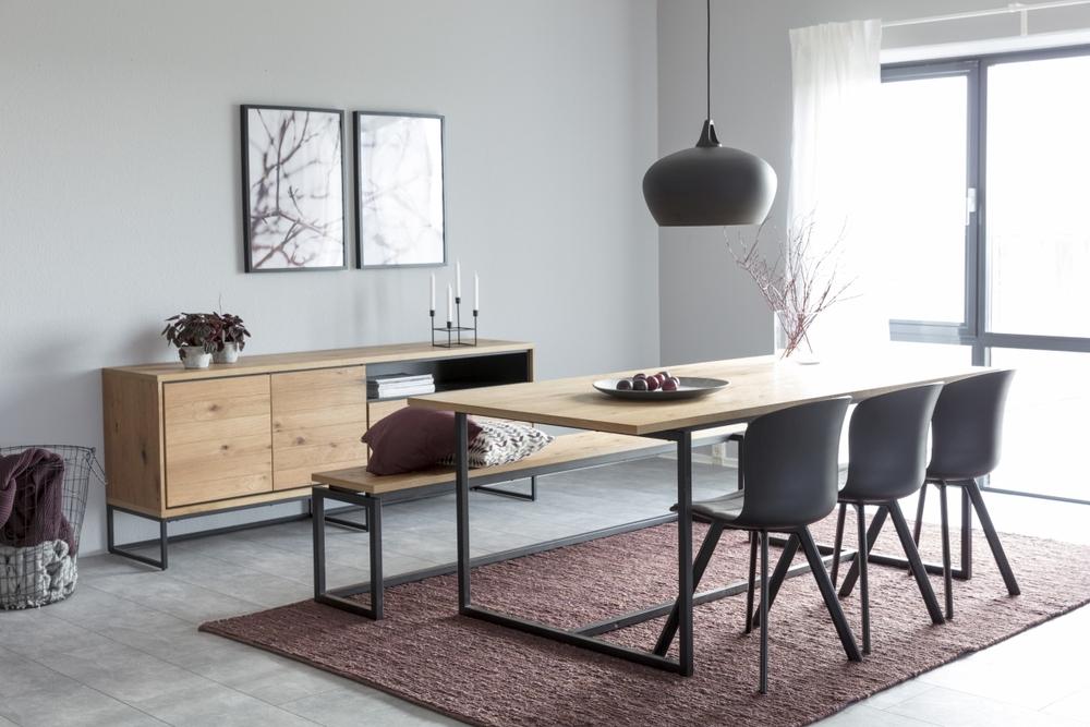 Dkton Jedálenský stôl Nadira 160 cm divoký dub