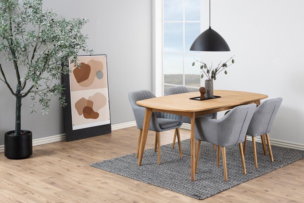 Dkton Jedálenský stôl Nahla 180 cm dub