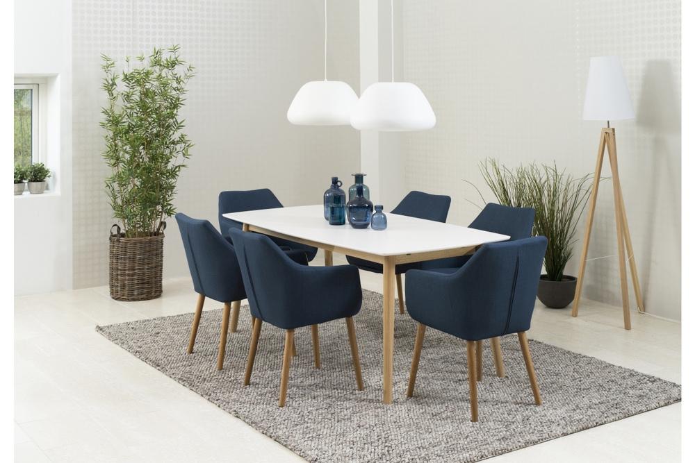 Dkton Jedálenský stôl Naiara 180 cm dub biely