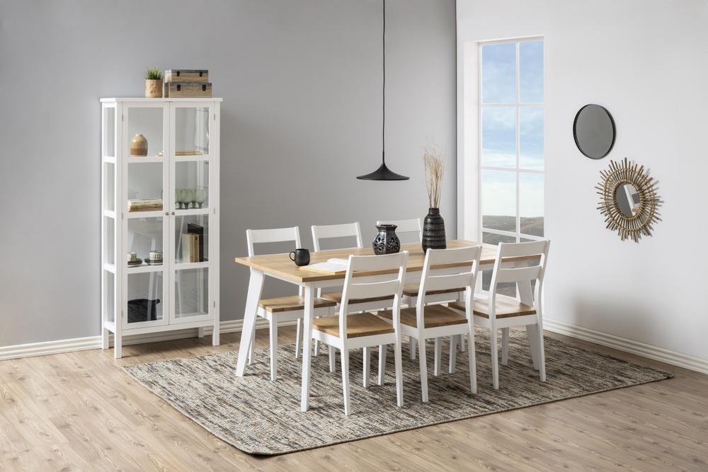 Dkton Jedálenský stôl Nedda 180 cm dub