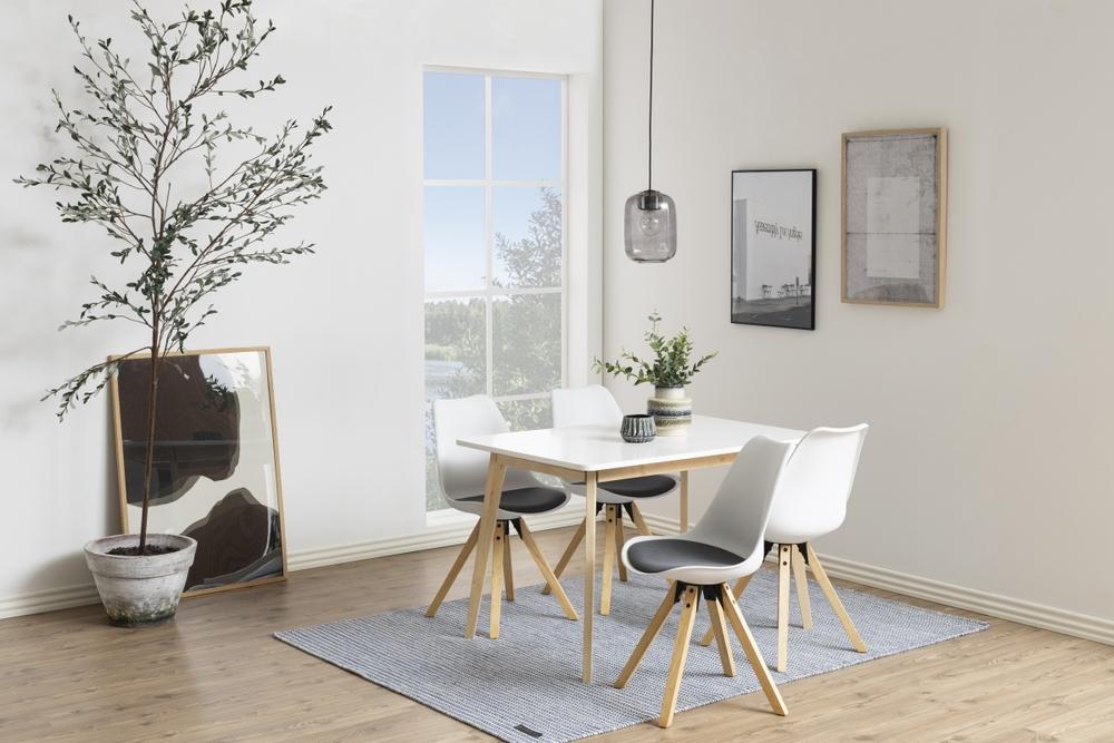 Dkton Jedálenský stôl Niecy 120 cm biely lakovaný