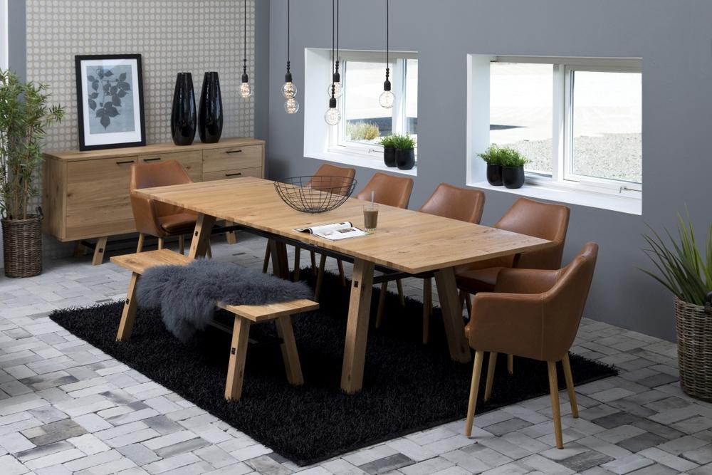 Dkton Jedálenský stôl rozkladací Nayana 210/300 cm brúsený divoký dub