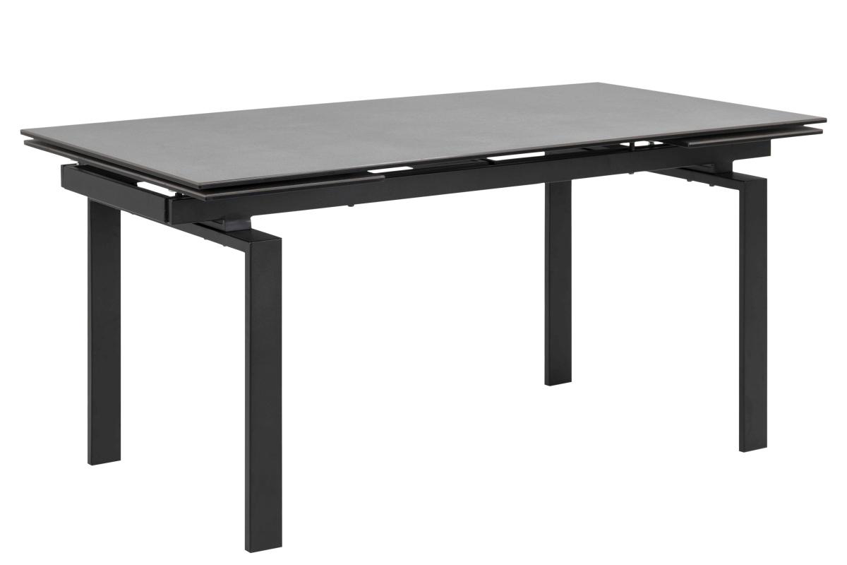 Dkton Jedálenský stôl rozkladací Neema 160/240 cm čierne sklo