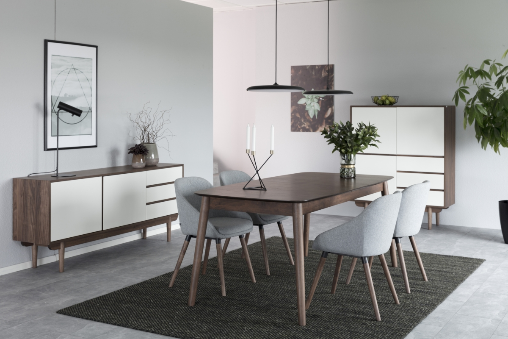 Dkton Jedálenský stôl rozkladací Nicki 180/219,5 cm Orech