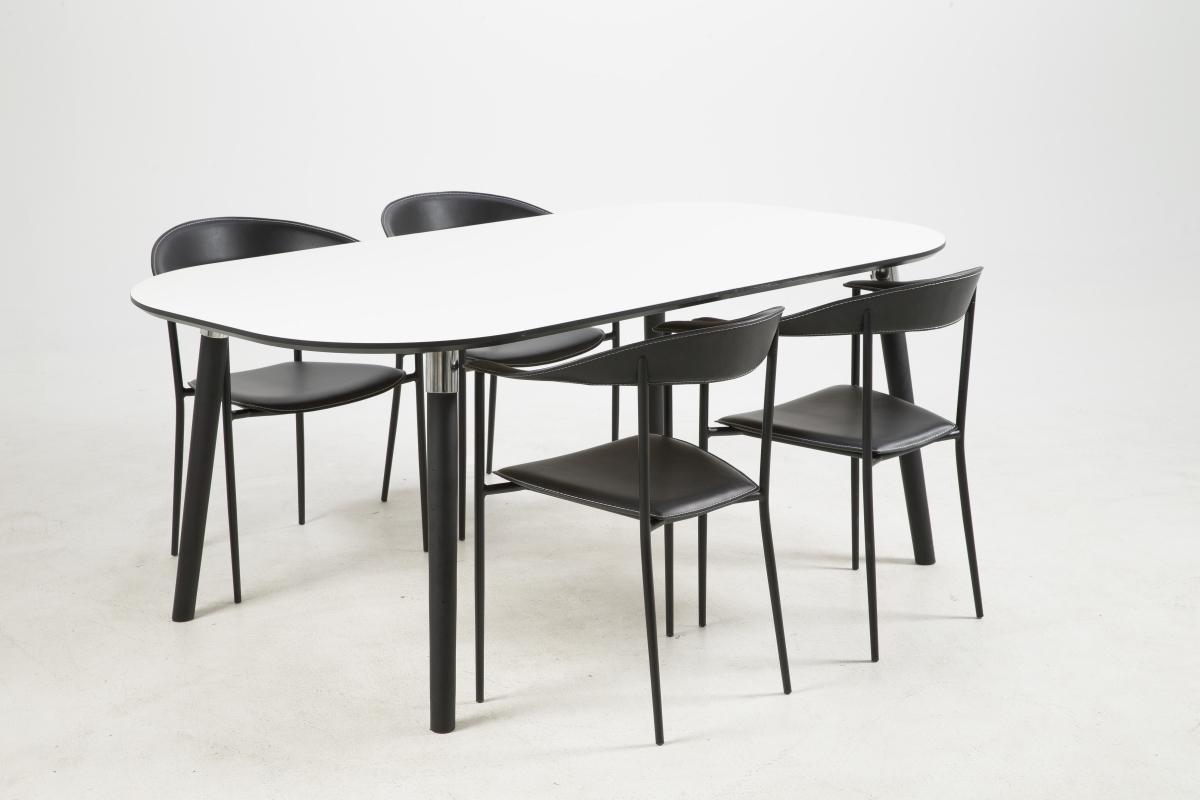 Dkton Jedálenský stôl rozkladací Nicolina 180/280 cm biely laminát