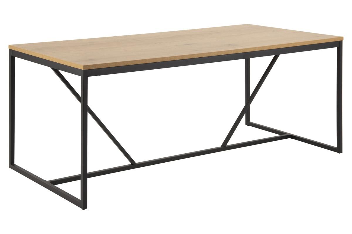 Dkton Jedálenský stôl Naja 180 cm dub - čierny