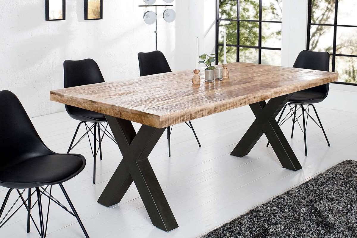 LuxD Jedálenský stôl Thunder 160 cm prírodný - mango