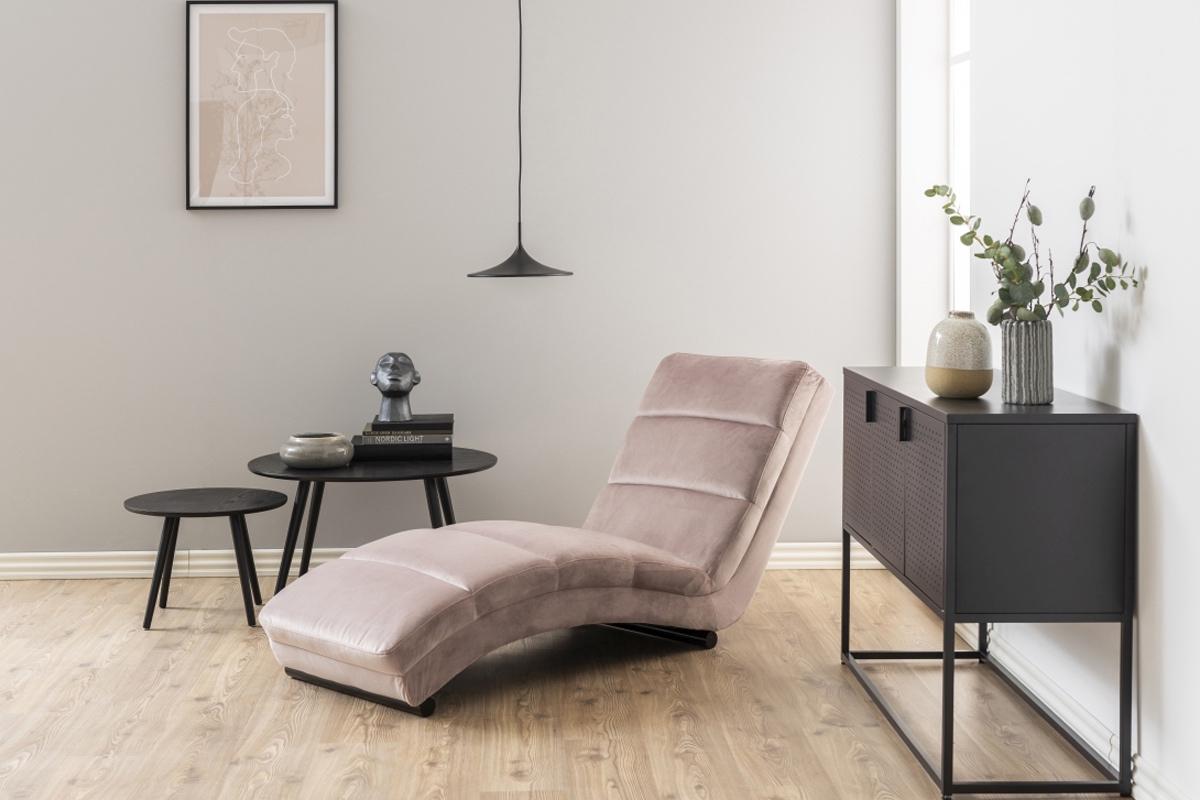 Dkton Luxusné relaxačné kreslo Nana, svetlo ružové