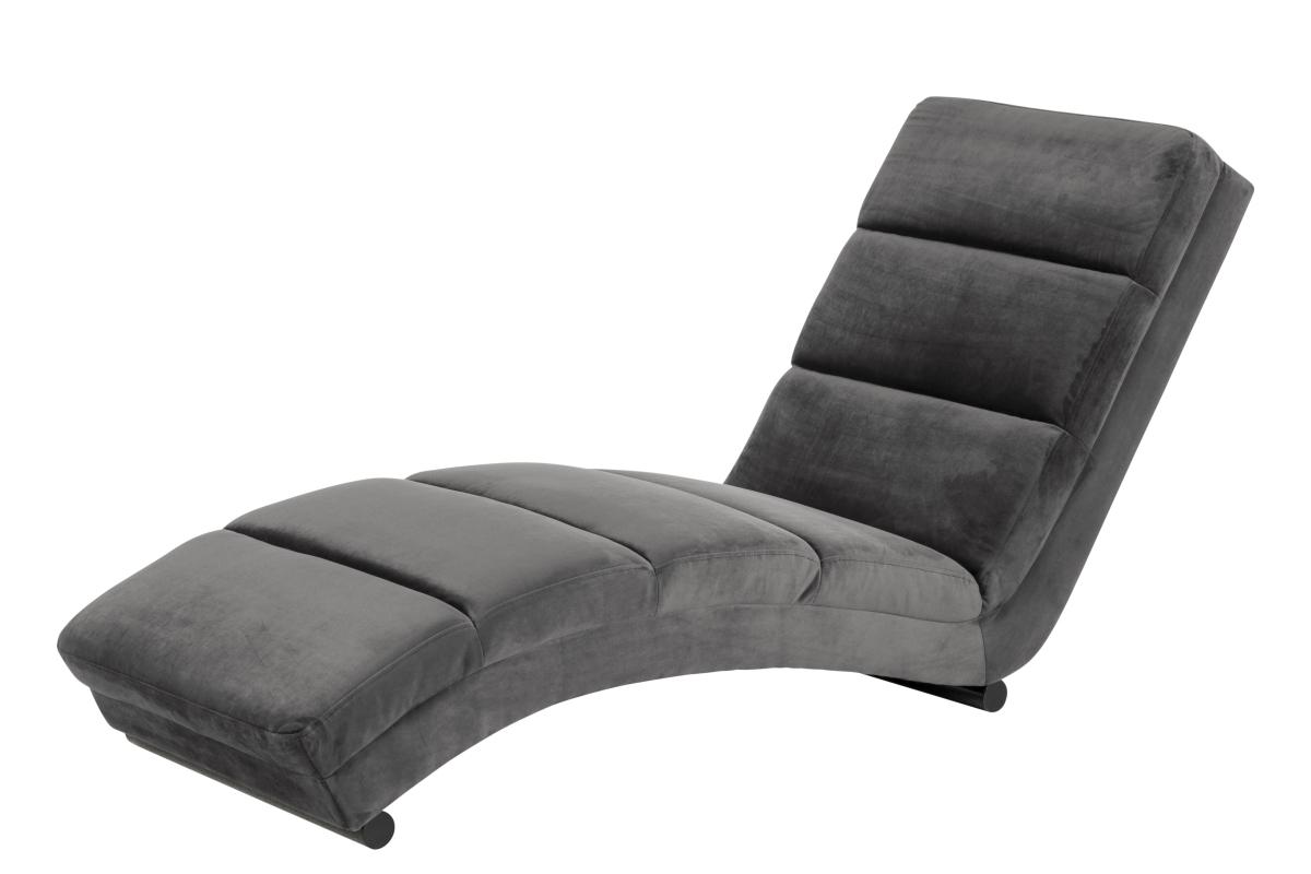 Dkton Luxusné relaxačné kreslo Nana, tmavo šedé