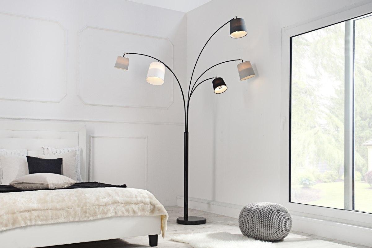 Dizajnová oblúková stojanová lampa SHADOW