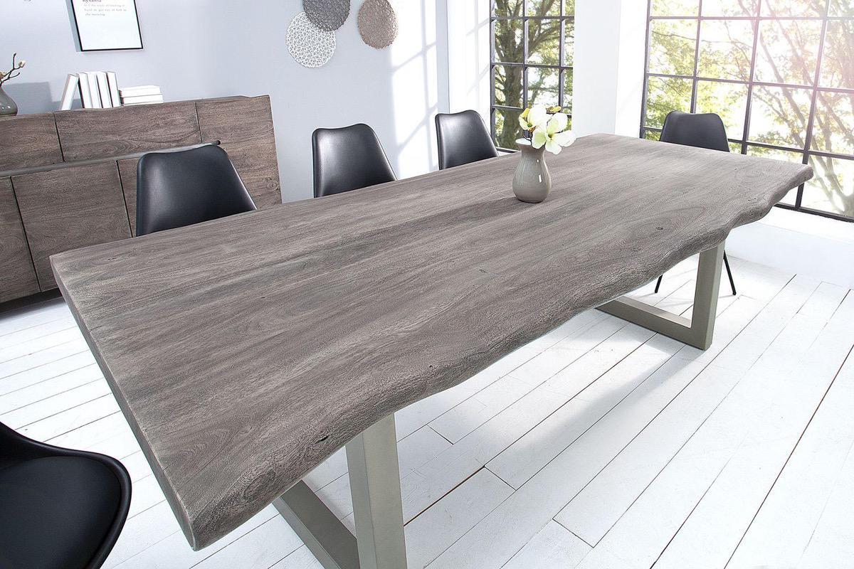 LuxD Luxusný jedálenský stôl z masívu Massive 200 cm / akácia -sivá