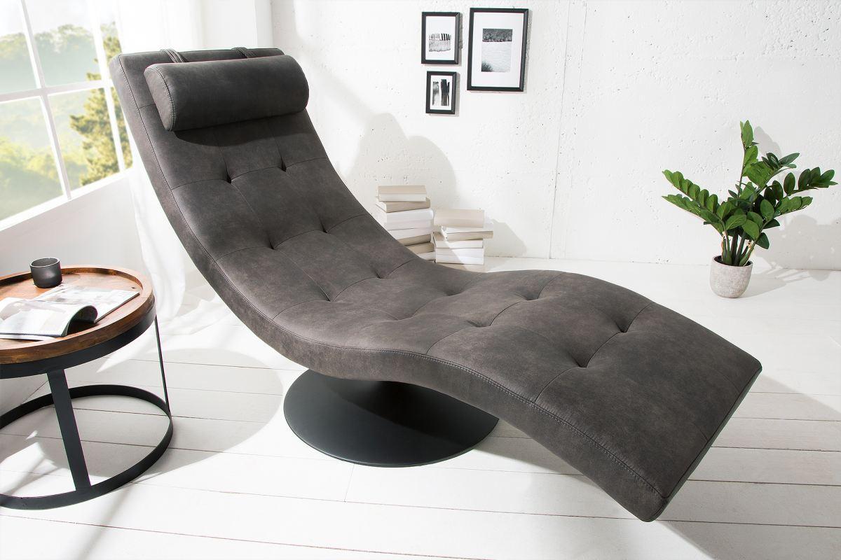 Luxusné relaxačné kreslo Rest sivé