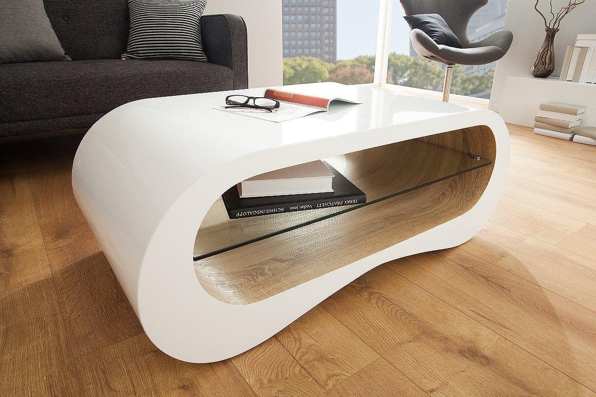 Konferenčný stolík Grady biely / dub 110 cm/