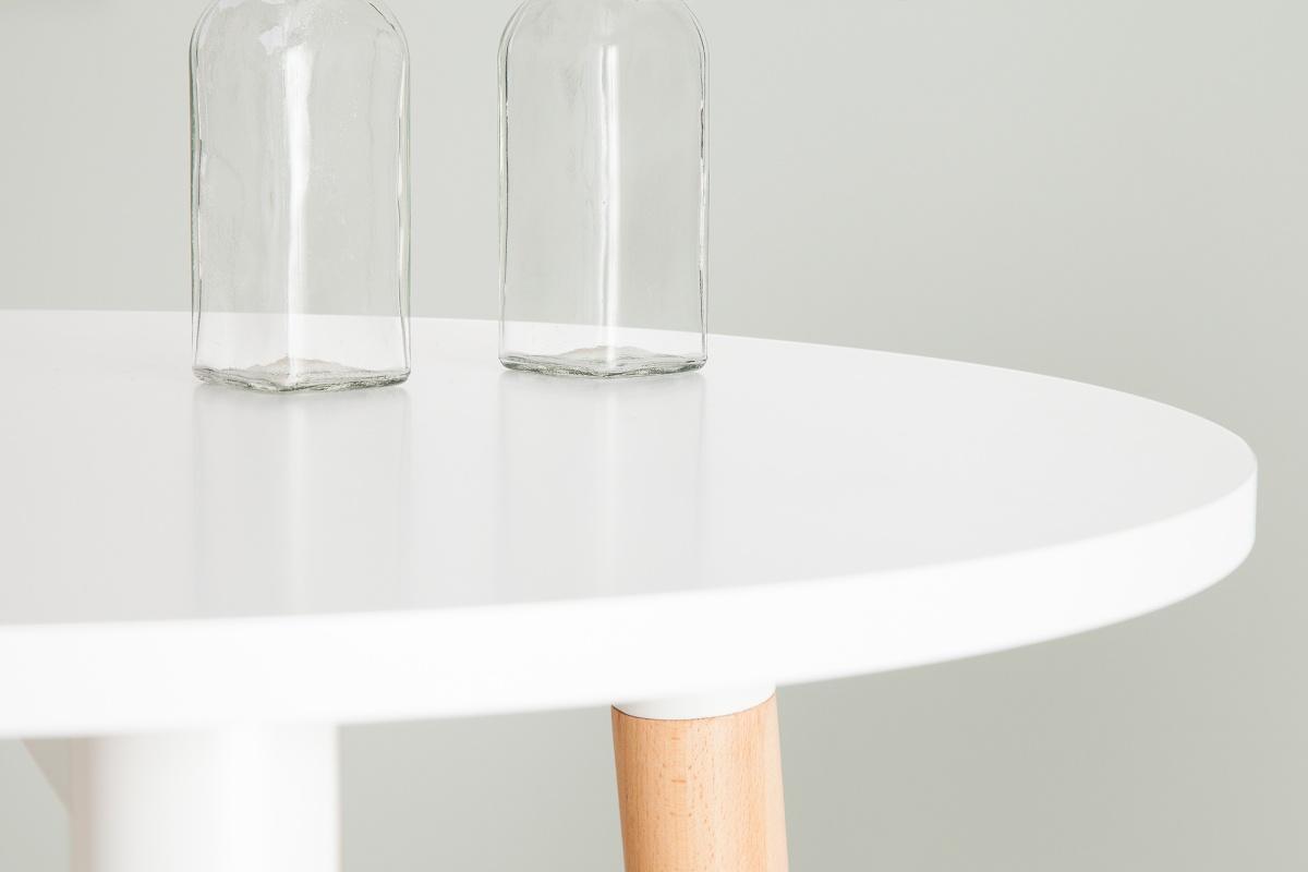 Barový stolík vysoký Sweden biely 105cm