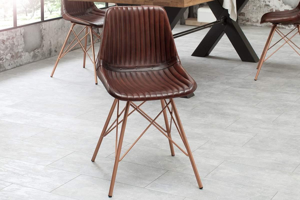 LuxD 20362 Dizajnová stolička Audrina hnedá