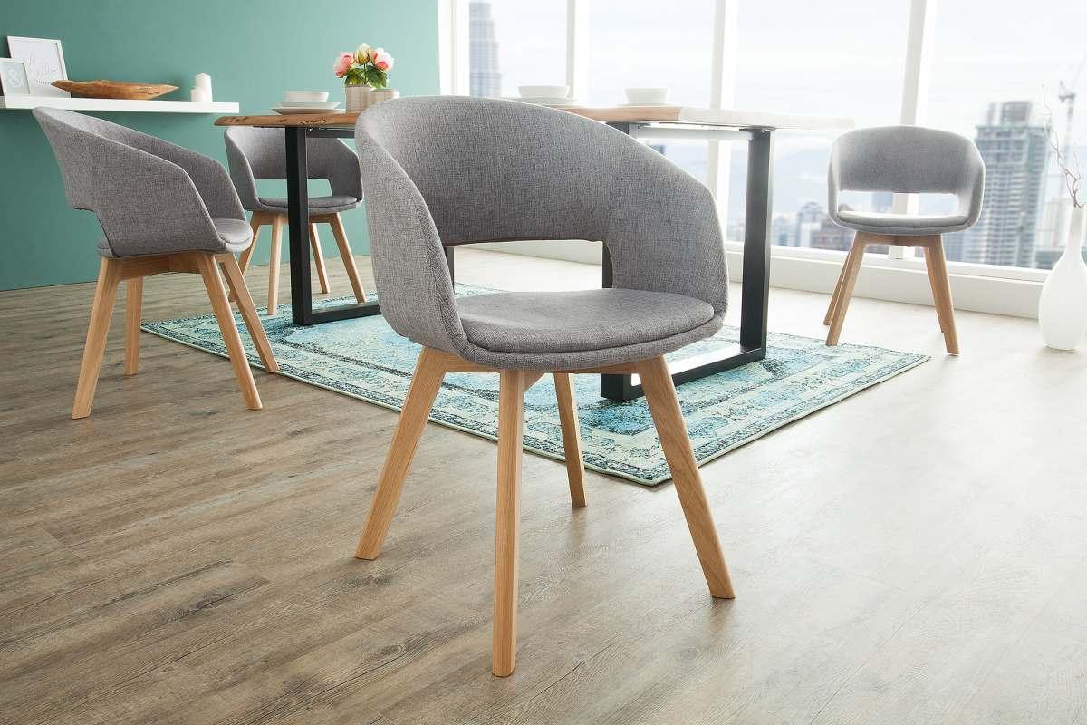 Dizajnová stolička Colby sivá