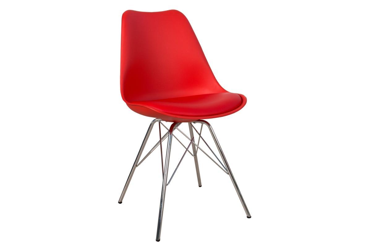 Stolička Sweden Retro červená