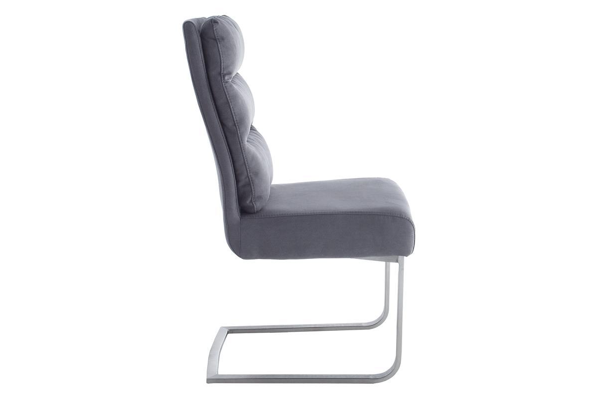Jedálenská stolička Frank vintage sivá