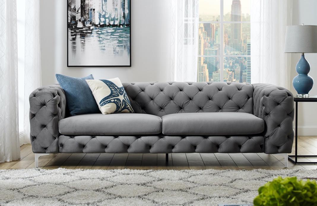 Dizajnová sedačka Rococo 240cm / grey