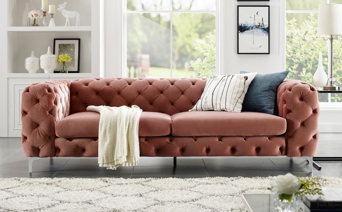 Dizajnová sedačka Rococo 240cm / apricot