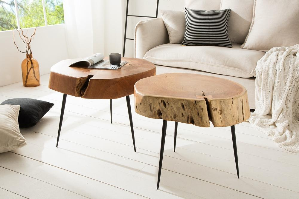 Konferenčný stolík z masívu Island 46cm