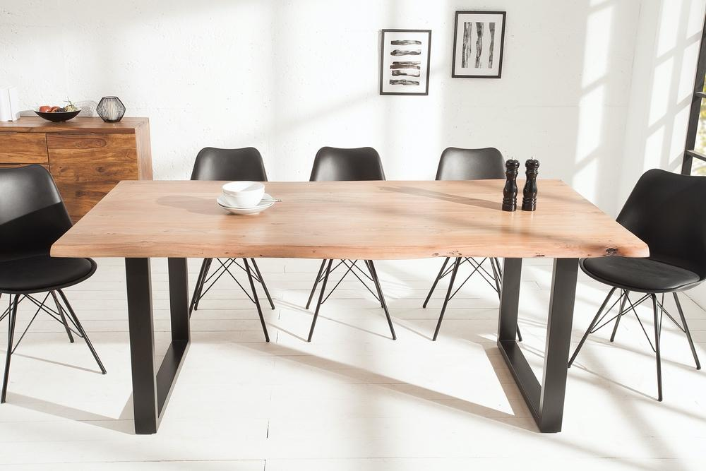Luxusný jedálenský stôl z masívu Massive 200 cm Black