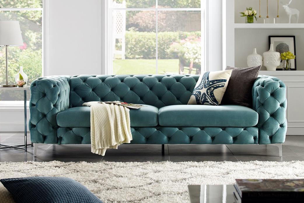 Dizajnová sedačka Rococo 240cm / aqua