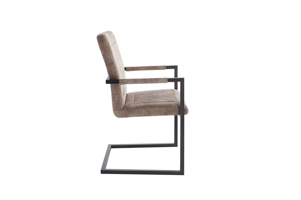 Jedálenská stolička Madilyn béžová s podrúčkami