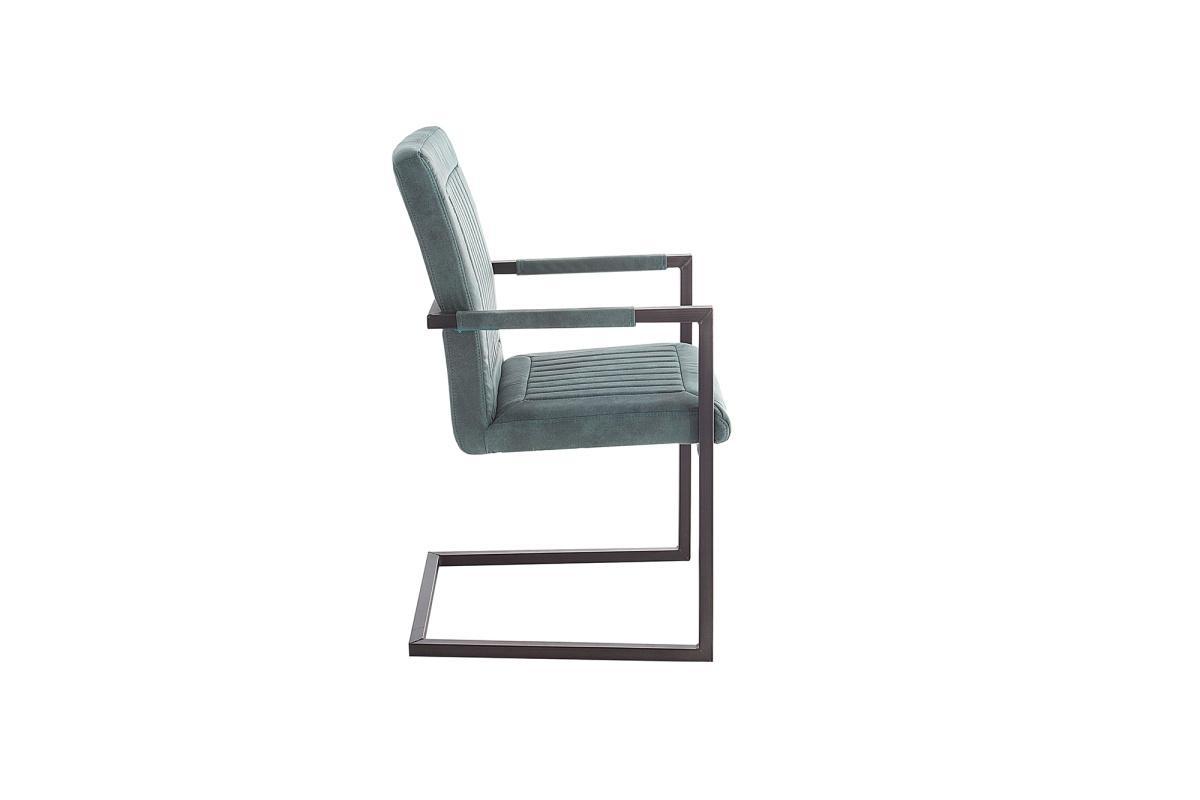 Jedálenská stolička Madilyn tyrkysová s podrúčkami