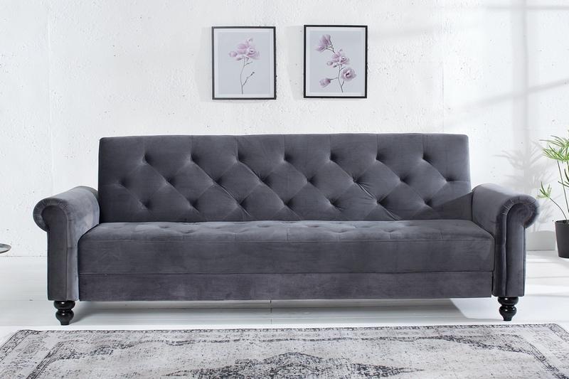 Dizajnová sedačka Scarlet 225 cm rozkladacia / antická sivá